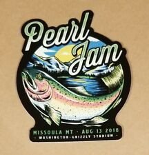 Pearl Jam Missoula MT Trout Sticker August 13 2018