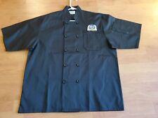 New 49Th State Brewing Company Denali Park Alaska Black Chef Work Shirt Size L