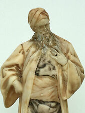 ORIENTALISTE Marbre Figurine Nathan le sage Signé Adolf Jahn Judaica années 1800