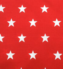 100% Cotton Poplin Fabric - 2 cm Stars