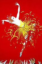 Erte 1982 - APPLAUSE - BALLET DANCER on Stage AUDIENCE Art Deco Print Matted