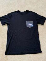 Men's Hurley Black Galaxy Pocket T Shirt Premium Fit Casual Skateboard Surf Nike