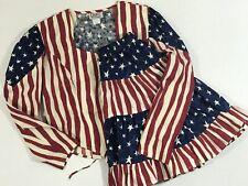 Vtg Circle T by Marilyn Lenox Rodeo Western Corset Top & Skirt Patriotic Us Flag