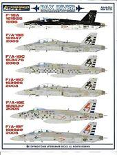 Afterburner PAX RIVER F/A-18A, B/C/D/E/F Hornet 'Bug Testers' Decal Set 1/48 025