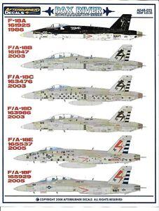 Afterburner Pax Rivière F/ A-18A, B/ C/ D/ E/F Frelon 'Bug Testeurs'Sticker De 1