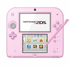 NEW Nintendo 2DS pink with 3DS Adapter 100-120V Free Shipping from JAPAN
