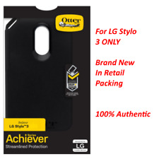 New Authentic OtterBox Achiever Series Case Skin For LG Stylo 3 Black