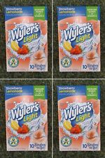 Wyler's Light Sugar Free Strawberry Lemonade Singles-Drink Mix-4 Packs-10 Ct Box