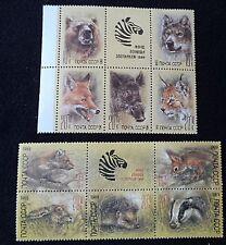 2 M. U. H. Blocks of 4 Russian Stamps Depicting Animals