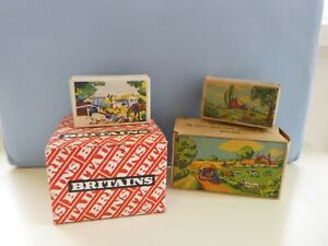 Vintage Britains Empty Boxes For Lead & Plastic Figures - Farm Man And Roller