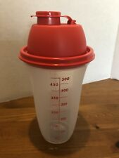 Tupperware Quick Shake - Blender / Mixer / Shaker 2 cup Red Seal New