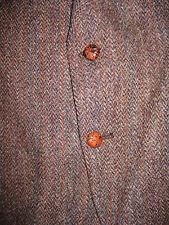 Vtg Kuppenheimer Harris Tweed Brown Herringbone Blazer Jacket Coat 100% Wool 42R