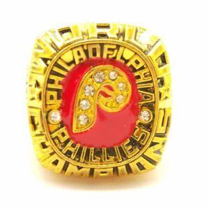 USA MLB Philadelphia Phillies Schmidt 1980 World Series Championship Gold Ring