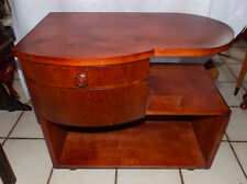 Light Cherry Mid Century / Art Deco End Table / Nightstand  (NS33)