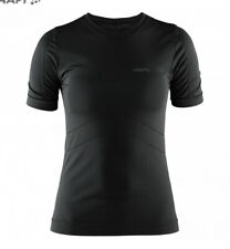 CRAFT Stay Cool Tee Black - Exercise / Cycling White T-shirt  L 14 16 Women's