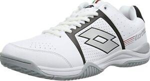 Lotto R0024 T-TOUR III 600 Men's Tennis Shoes US Size 8.5 WHT/BLK