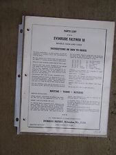 1958 Evinrude Fastwin 18 HP Outboard Parts List 15024 15025  MORE IN STORE  U