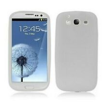 Cover Case Samsung Silicone Galaxy S3 i9300 White Shell New