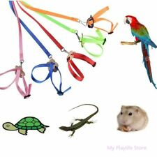 Colorful Parrot Bird Collar Hamster Turtle Lizard Adjustable Traction Harness