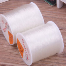 100 Meters Fishing Wire Nylon Clear Beading Stretch 0.8mm UK Transparent Non