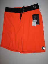 NWT Billabong Boys 28/16 Boardshorts Board Shorts Neon Orange Black Beach Surf