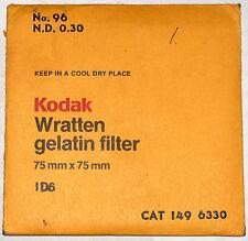 Kodak Wratten 96 N.D. 0.30 Gelatin 75mm ND Filter EX++ Condition