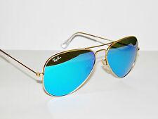 RAY BAN sunglasses 3025 Rayban 112/17  55 Gold Blue Mirror AVIATORS Free s/h!