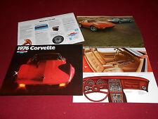 1976 CHEVROLET CORVETTE NOS ORIGINAL BROCHURE, CATALOG, FRESH FROM THEIR '76 BOX
