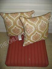 Frontgate Sunbrella Chair Sofa Stool bottom replacement Cushion 28x28 brick red