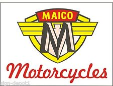 M044 & M042 MAICO MOTORCYCLES Vintage Motorcycle Bike garage - two banners