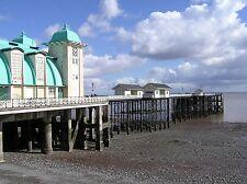 2 Vittoriani Visualizzazioni Penarth,Spiaggia e pier Vintage Vecchio Colore