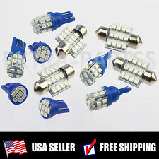 Xenon Blue 11PC LED Lights Interior Package T10 & 31mm Map Dome + License Plate