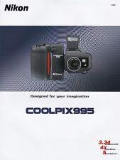 GENUINE ORIGINAL NIKON PRODUCT INFORMATION BROCHURE FOR COOLPIX 995 CAMERA