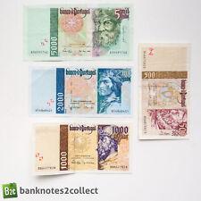PORTUGAL: Set of 4 Portuguese Escudo Banknotes.