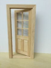 1:12 Dollhouse Miniature Door Wood Interior 1PCS OA011G