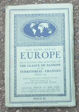 More details for vintage new hand map league of nations europe