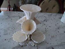 BELLEEK  Marine Vase Epergne Lustre 1965-80 4 Trumpets 3 Shell