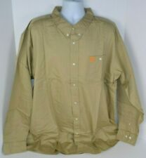 Tennessee Vols Men's Big & Tall Button-Front Oxford Shirt, Khaki 3XL NEW