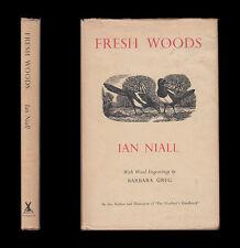 1951 Ian Niall FRESH WOODS Scotland Wales Wildlife  BARBARA GREG WOOD ENGRAVINGS
