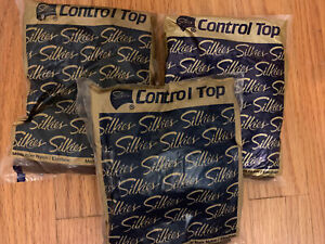 Lot of 3 Vintage Silkies Control Top Pantyhose Nylons (X-Large) Various Colors