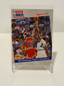 1993 Michael Jordan Upper Deck NBA Playoff Highlights #187 NM