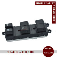 Power Window Master Switch Left 25401-ED500 for 2007-2009 Nissan Versa 1.6L 1.8L