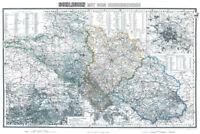 Schlesien mit Riesengebirge 1890 - Historische Karte (Reprint)