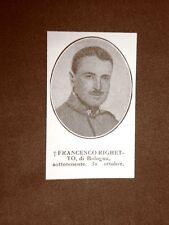 WW1 Prima guerra mondiale 1914-1918 Francesco Righetto Bologna e Felice Mamfredi