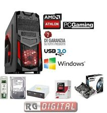 COMPUTER DESKTOP PC USB 3.0 GAMING AMD QUAD CORE X4 RAM 8GB HD 1TB iTeK INVADER