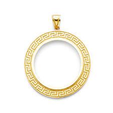 Solid 14K gold Greek bezel for Mexican 50 Pesos EJCM34907