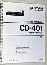 Tascam TEAC CD-401 CD Player Service Repair Manual