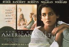 HOW 2 MAKE AN AMERICAN QUILT A4 Mini-Poster WINONA RYDER ANNE BANCROFT E BURSTYN