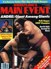 ANDRE THE GIANT Wrestling's Main Event Magazine September 1983 HULK HOGAN Poster