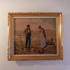N2014 tableau tapisserie canevas fait main scène de genre personnage PN France